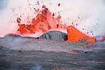 Vulkánkitörés, Mount Nyiragongo, Kongó (id: 17551) falikép keretezve