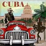 Cuba retro poster. (id: 19151)