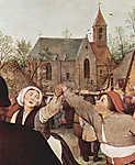Pieter Bruegel the Elder: Paraszttánc (részlet) (id: 19751) bögre
