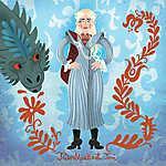 Tűzrőlpattant Teri (Daenerys Targaryen) (id: 20251) falikép keretezve