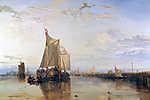 William Turner: A Dort vitorláshajó (színverzió 1) (id: 20351) többrészes vászonkép