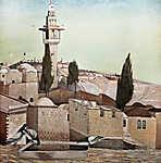 Csontváry Kosztka Tivadar: Az Olajfák hegye Jeruzsálemben (színverzió 1.) (id: 20451) vászonkép óra