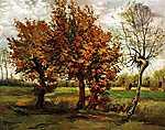 Pierre Auguste Renoir: Őszi tájkép négy fával (1885) (id: 351)