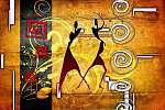 afro motívum etnikai retro vintage (id: 7351) poszter