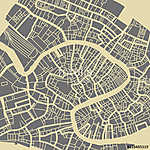 Venice vector map. Monochrome vintage design base for travel car vászonkép, poszter vagy falikép