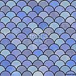 Kék, félkör alakú minták (id: 11052)