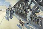 Gustave Caillebotte: Az Európa híd (id: 11752) vászonkép óra