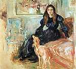 Berthe Morisot: Julie Manet és az agara, Laertes (id: 1952) vászonkép