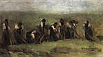 Max Liebermann: Cukorrépa kapálók (1873) (id: 19652) falikép keretezve