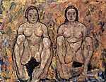 Guggoló női pár (id: 3052) poszter