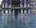 Claude Monet: Contarini Palota, Velence - Színverzió 1. (id: 3852) falikép keretezve