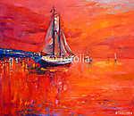 Hajó óceánban (id: 4252) vászonkép