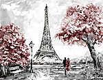 Olajfestés, Párizs utcafelmérése. Pályázati táj (id: 10253) többrészes vászonkép