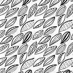 dynamic monochrome,black and white foliage doodle pattern (id: 14053) poszter