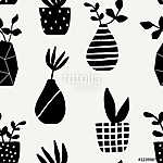 Vases and Pots Seamless Pattern (id: 15053)