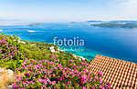 view on azure adriatic sea from peljesac peninsula in Dalmatia, Croatia (id: 16353) falikép keretezve