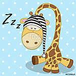 Sleeping Giraffe (id: 19053) falikép keretezve