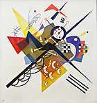 Vaszilij Kandinszkij: Absztrakt törtfehér háttérrel II. (id: 19453) többrészes vászonkép