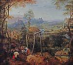 Pieter Bruegel the Elder: Szarka az akasztófán (id: 19753) falikép keretezve