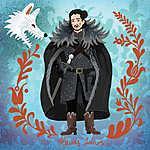 Havas János (Jon Snow) (id: 20253) falikép keretezve