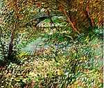 Camille Pissarro: Szajna- part tavasszal, a Clichy-i híddal a háttérben (1887) (id: 353) vászonkép óra