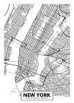 Vektor poszter térkép város New York (id: 11954)