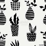 Vases and Pots Seamless Pattern (id: 15054) vászonkép óra