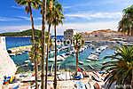 View on adriatic sea and Dubrovnik in Dalmatia, Croatia (id: 16354) többrészes vászonkép