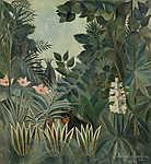 Henri Rousseau: Dzsungel az Egyenlítőn (id: 19254) falikép keretezve