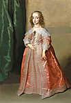Anthony van Dyck : Stuart Mária Henrietta hercegnő portréja (id: 19654) falikép keretezve