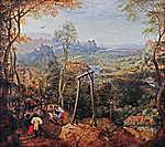 Pieter Bruegel the Elder: Szarka az akasztófán (színverzió 1.) (id: 19754) vászonkép