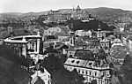 Gellérthegy kilátás a Tabánra, előtérben a Szent Gellért szobor (1938) - színverzió 1 (id: 20154) falikép keretezve