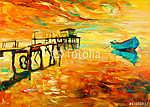 Oil painting (id: 13355) többrészes vászonkép