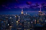 New York City - Éjszakai fények (id: 17755) poszter