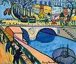 Tihanyi Lajos: A Pont Saint-Michel híd Párizsban (1908) (id: 19255)