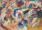 Vaszilij Kandinszkij: Terv 2 a Kompozíció VII-hez (id: 19455) többrészes vászonkép