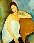 Modigliani: Jeanne Hébuterne portréja fehér hálóingben (színverzió v1) (id: 20455) poszter