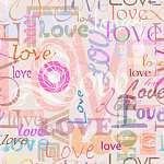 Love - Pasztel dizájn (id: 21755) vászonkép