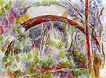 Paul Cézanne: Híd a Három forrás folyón (id: 455) vászonkép óra
