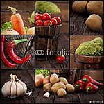 Szerves zöldségek kollázsai (id: 4755) tapéta