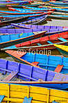 Részlet a régi színes vitorlás hajók a tóban (id: 5055) vászonkép óra