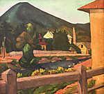 Tihanyi Lajos: Nagybányai látkép (id: 19256) vászonkép