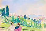 Pasarét, háttérben a Budai Vár kupolájával és a Gellért-heggyel (id: 19856) vászonkép óra