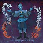 Az üveghegyen túli király (The Night King) (id: 20256) falikép keretezve