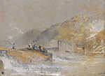 William Turner: Folyó horgászokkal (id: 20456) falikép keretezve