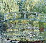 Claude Monet: A japán híd Givernyben (1899) (id: 3856) vászonkép