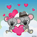 Lovers Koalas (id: 18957) falikép keretezve