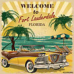 Welcome to Fort Lauderdale, Florida retro poster. (id: 19157)