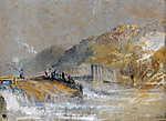 William Turner: Folyó horgászokkal (Színverzió 1) (id: 20457) tapéta
