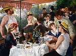 Pierre Auguste Renoir: Evezősök reggelije (színverzió 1) (id: 21257) vászonkép óra